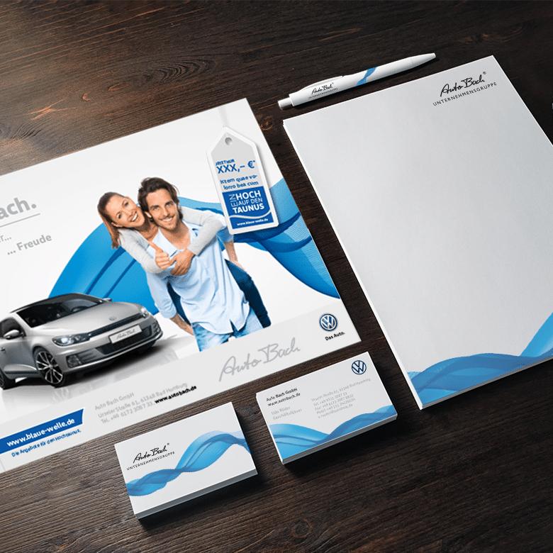 Mockup AutoBach V2 | Corporate Design | Autoactiva Werbeagentur